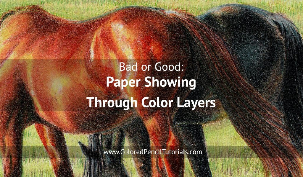 Paper Showing Through Color Layers